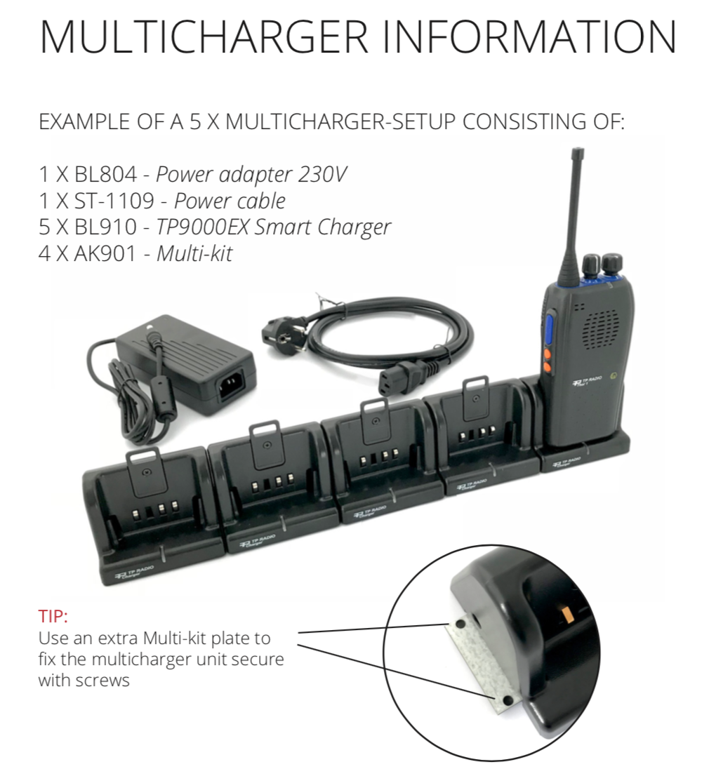Multi charger for TP9000EX